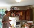 Chris admiring the Shelfpaper