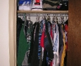 closet filled with clothes